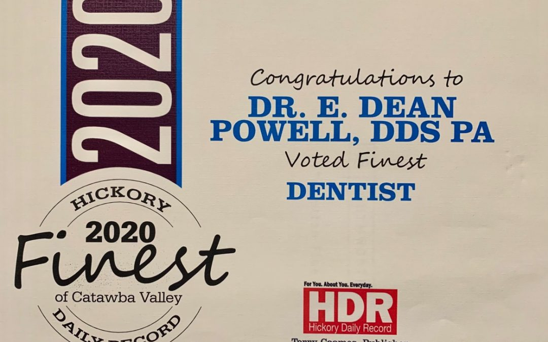 Dr. Powell's Practice Voted Catawba Valley's Finest Dentist!